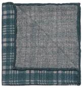 Brunello Cucinelli Plaid Print Wool Pocket Square
