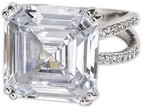 CZ by Kenneth Jay Lane - Asscher Cut Shank Ring Ring