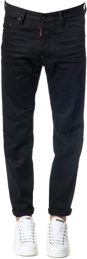 DSQUARED2 Black Be Cool Be Nice Cool Guy Cotton Jeans