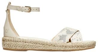 Cole Haan CloudFeel Snakeskin-Embossed Leather Espadrille Sandals