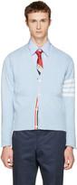 Thom Browne Blue Classic V-neck Cardigan