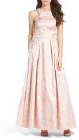 Xscape Evenings Women's Lace-Up Side Brocade Ballgown