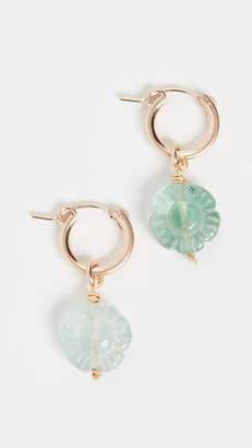 Eliza J Brinker & Flower Child Huggie Earrings
