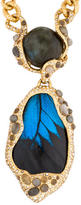 Alexis Bittar Butterfly Wing & Labradorite Pendant Necklace
