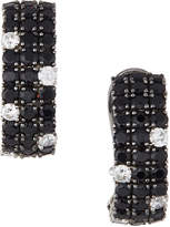 Roberto Coin 18k Black Sapphire & White Diamond Fan Earrings