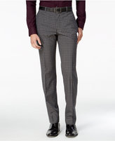 Bar III Men's Slim-Fit Charcoal Check Dress Pants, Only at Macy's