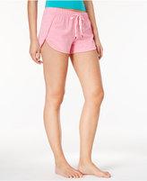 Jenni by Jennifer Moore Heathered Knit Boxer Pajama Shorts, Only at Macy's