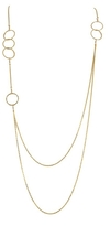 Charlene K Multiple Circle Double Chain Necklace
