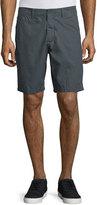 John Varvatos Flap-Pocket Cotton Shorts, Seal Gray