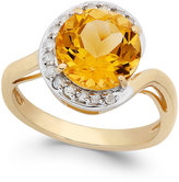 Macy's Citrine (2-7/8 ct. t.w.) and Diamond (1/5 ct. t.w.) Ring in 14k Gold