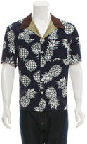 Valentino Pineapple Print Button-Up Shirt w/ Tags