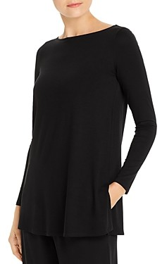 Eileen Fisher Petites Boat Neck Tunic Top