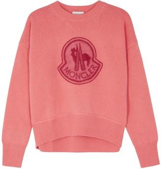 Moncler Coral Logo-appliqued Wool-blend Jumper