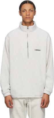 Essentials Grey Polar Fleece Sweater