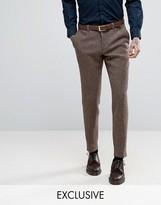 Heart & Dagger Harris Tweed Skinny Suit Trousers