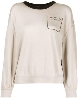 Brunello Cucinelli Future is Yours sweatshirt