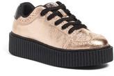 T.U.K. Casbah Creep Rose Gold Wingtip Sneaker