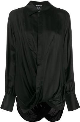 Ann Demeulemeester long sleeved draped blouse