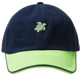 Vilebrequin Navy Green Turtle Cap