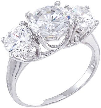 Cz By Kenneth Jay Lane Round CZ Triple Stone Ring
