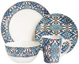 Jay Import Blue & Gold Metallic 16-Piece Dinnerware Set