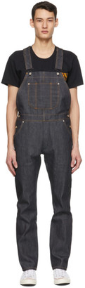 Naked and Famous Denim Blue Denim Left Hand Twill Overalls