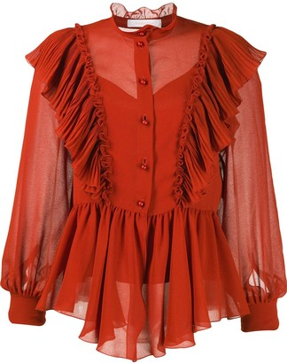 See by Chloe Neo-Victorian ruffled blouse