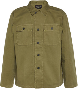 Ralph Lauren RRL Cotton-Twill Military Button-Up Shirt