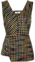 MSGM woven asymmetric top - women - Cotton/Acrylic/Polyester - 42
