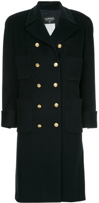 Chanel Pre Owned Cashmere Double Breasted Coat