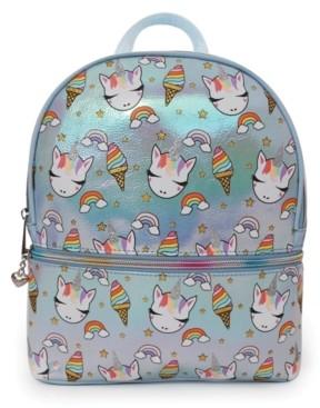 Omg Accessories Omg! Accessories Sweets Unicorn Print Metallic Mini Backpack