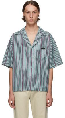 Prada Green Striped Shirt