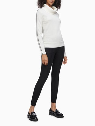 Calvin Klein Suede Stretch Pull-On Ankle Pants