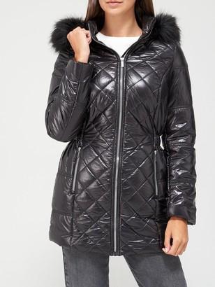 Very Ultra Lightweight Long Padded Coat - Black
