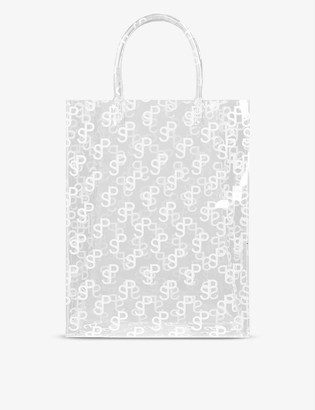 Saks Potts Lap monogram-print PVC top-handle bag