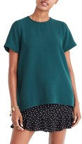 Madewell Women's Pleated Short Sleeve Tee