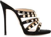 Giuseppe Zanotti Design embellished multi-strap sandals - women - Silk/Leather - 37