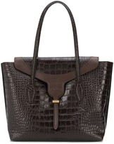 Tod's Crocodile-Embossed Tote Bag