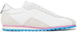 MM6 MAISON MARGIELA Perforated Suede-trimmed Shell Sneakers