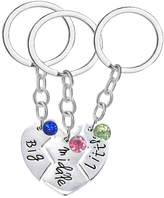 TISDA Best Friend keychain, Sister Gifts keychain Jewelry,Big middle little Sister keychain Set, Christmas Gift