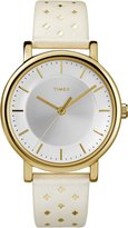 Timex Women's TW2R11700GP Fashion Style Dial and White Trend Leather Strap Watch
