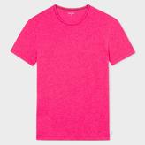 Paul Smith Men's Raspberry Pink Crew Neck Short-Sleeve Vest
