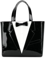 Thom Browne tuxedo icon tote