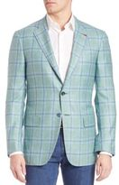 Isaia Plaid Cashmere & Silk Sportcoat