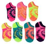 Circo Girls' 7pk No-Show Socks Tie Dye