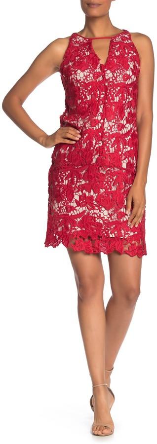 Sam Edelman Lace Keyhole Sleeveless Shift Dress