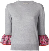 Emilio Pucci frill cuff jumper - women - Silk/Virgin Wool - XS