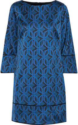 Elie Tahari Esmarella Printed Satin Mini Dress