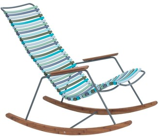 Ecc Lighting & Furniture Click Outdoor Rocking Chair Multi Green & Blue Palette