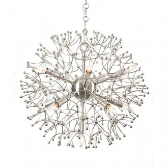 Aidan Gray Organic 11 - Light Unique Globe Chandelier Finish: Nickel